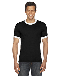 BB410W American Apparel UNISEX Poly-Cotton Short-Sleeve Ringer T-Shirt