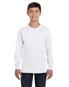 G540B Gildan Youth Heavy Cotton™ 8.8 oz./lin. yd. Long-Sleeve T-Shirt