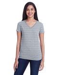 252RV Threadfast Ladies' Invisible Stripe V-Neck T-Shirt