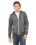 3739 Bella + Canvas Poly-Cotton Fleece Full-Zip Hoodie