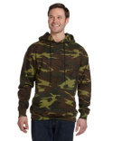3969 Code Five Men's Camo Pullover Fleece Hoodie