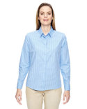 77044 Ash City - North End Align Wrinkle-Resistant Cotton Blend Dobby Vertical Striped Shirt