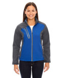 78176 Ash City - North End Terrain Colourblock Soft Shell with Embossed Print