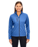 78213 Ash City - North End Ladies' Trace Printed Fleece Jacket