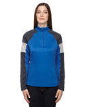 78214 Ash City - North End Ladies' Quick Performance Interlock Half-Zip Top