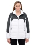 78232 Ash City - North End Ladies' Excursion Meridian Insulated Jacket with Melange Print