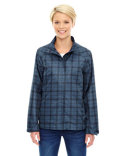 78671 Ash City - North End Sport Blue Locale Lightweight City Plaid Jacket