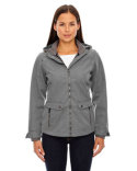 78672 Ash City - North End Sport Blue Uptown Three-Layer Light Bonded City Textured Soft Shell Jacket