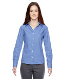 78690 Ash City - North End Sport Blue Precise Wrinkle-Free Two-Ply 80's Cotton Dobby Taped Shirt