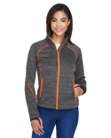78697 Ash City - North End Sport Red Ladies' Flux Mélange Bonded Fleece Jacket