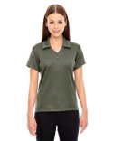 78803 North End Ladies' Exhilarate Coffee Charcoal Performance Polo with Back Pocket
