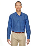 87044 Ash City - North End Align Wrinkle-Resistant Cotton Blend Dobby Vertical Striped Shirt