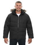 88179 Ash City - North End Boreal Down Jacket with Faux Fur Trim