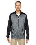 88203 Ash City - North End Men's Shuffle Performance Mélange Interlock Jacket