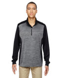 88204 Ash City - North End Men's Conquer Performance Mélange Interlock Half-Zip Top