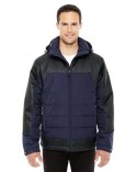 88232 Ash City - North End Men's Excursion Meridian Insulated Jacket with Melange Print