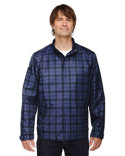 88671 Ash City - North End Sport Blue Locale Lightweight City Plaid Jacket
