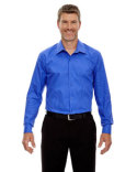 88674 Ash City - North End Sport Blue Boardwalk Wrinkle-Free Two-Ply 80's Cotton Striped Tape Shirt