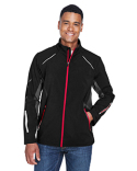 88678 Ash City - North End Men's Pursuit Three-Layer Light Bonded Hybrid Soft Shell Jacket with Laser Perforation