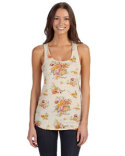AA1927P Alternative Ladies' Eco Jersey Triblend Meegs Printed Racerback Fashion Tank