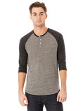 AA1989 Alternative Men's Eco-Jersey™ 3/4-SleeveRaglan Henley