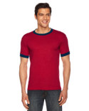 BB410 American Apparel Poly-Cotton Short-Sleeve Ringer T-Shirt