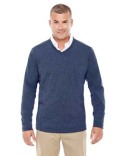 D884 Devon & Jones Men's Fairfield Herringbone V-Neck Pullover