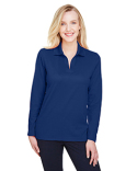 DG20LW Devon & Jones Ladies' CrownLux Performance™ Plaited Long-Sleeve Polo