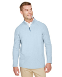 DG480 Devon & Jones Men's CrownLux Performance™ Clubhouse Micro-Stripe Quarter-Zip