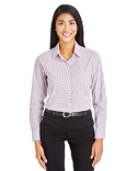 DG540W Devon & Jones CrownLux Performance™ Ladies' Micro Windowpane Shirt