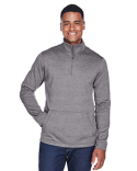DG798 Devon & Jones Men's Newbury Mélange Fleece Quarter-Zip