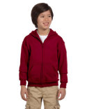 G186B Gildan Youth Heavy Blend™ 13.3 oz./lin. yd., 50/50 Full-Zip Hood