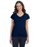 G64VL Gildan Ladies' SoftStyle® 7.5 oz./lin. yd. Fitted V-Neck T-Shirt