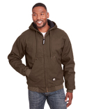 HJ375 Berne Men's Highland Washed Cotton Duck Hooded Jacket