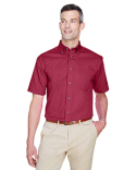 M500S Harriton Easy Blend™ Short-Sleeve Twill Shirt with Stain-Release