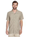 M560 Harriton Barbados Textured Camp Shirt