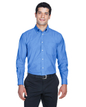 M600 Harriton Long-Sleeve Oxford with Stain-Release