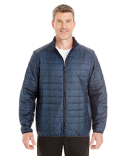 NE701 Ash City - North End Men's Portal Interactive Printed Packable Puffer Jacket