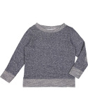 RS3379 Rabbit Skins Toddler Harborside Melange French Terry Crewneck with Elbow Patches