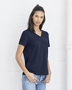 6405 Bella + Canvas Ladies' Relaxed Jersey Short-Sleeve V-Neck T-Shirt