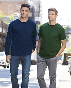 G241 Gildan Adult Ultra Cotton® 10 oz./lin. yd. Long-Sleeve Pocket T-Shirt