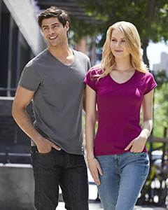 G64VL Gildan Ladies' SoftStyle® 4.5 oz. Fitted V-Neck T-Shirt
